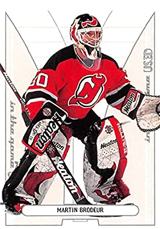 Amazon Com 2002 03 In The Game Used 141 Martin Brodeur Nm Mt Nj