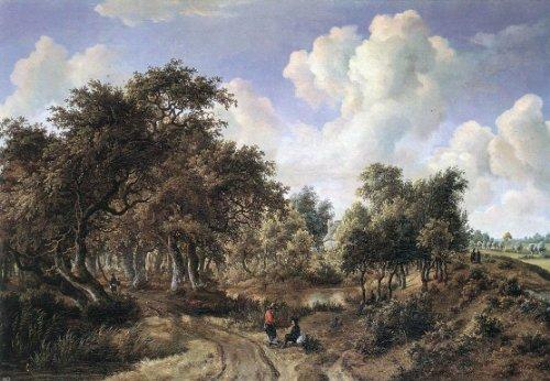 Meyndert Hobbema A Wooded Landscape - 18.1