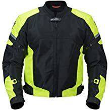 Pilot Motosport Men's Direct Air Mesh Motorcycle Jacket (V3) (Hi-Vis, Large)