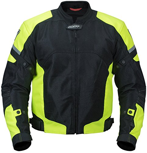 Pilot Motosport Men's Direct Air Mesh Motorcycle Jacket (V3) (Hi-Vis, ()