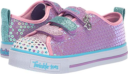 Twinkle LITE-Mermaid Magic Sneaker, Lavender/Multi, 13.5 Medium US Little Kid ()
