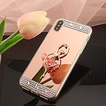 coque iphone 8 miroir bague