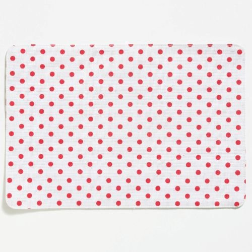 (Vietri Old St. Nick Reversible Placemat, White Striped & Red Dotted)
