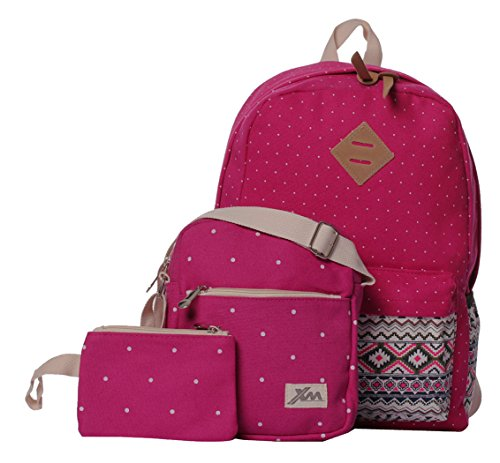 Veenajo Casual Lightweight Cute Dot Canvas Laptop Bag - Backpack Purses For Teens