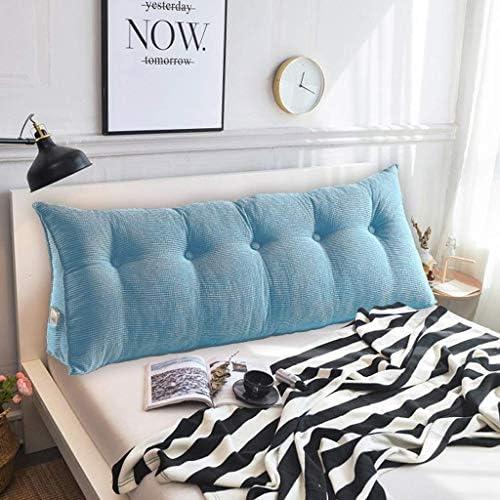 ナイトトライアングルバックレストウェッジ、ホームオフィス用リーディングベッドベッドレスト、5色、6サイズ(色:青、サイズ:180CM)