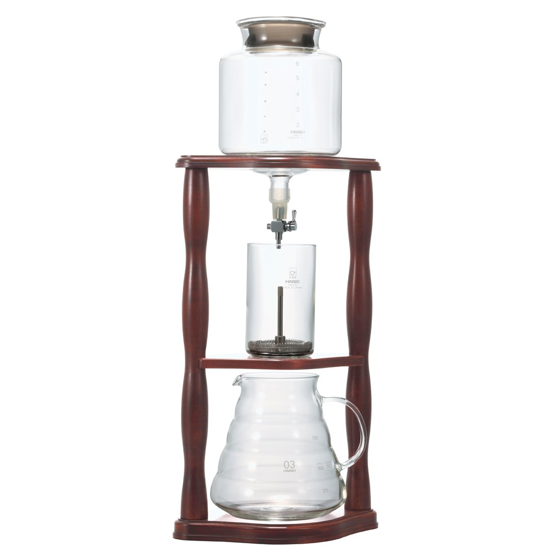 Hario Coffee Water Dripper Wood Cold Brew Drip WDW-6 2-6 Cups 780ml
