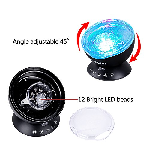 Ohuhu remote control night light ocean wave light projector 7 import it all - Remote control night light ...