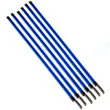 Kmise Electric Guitar Truss Rod Double Style Two Way Type A3 Steel Parts and Hardware 460 X 9 mm Blue 6pcs (A2606)