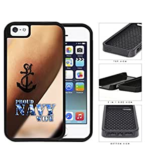 Proud Navy Wife Anchor Tattoo on Arm iPhone 5 5s (2-piece) Dual Layer High Impact Cell Phone Case