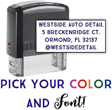 Custom Address Stamp Options Self Inking product image