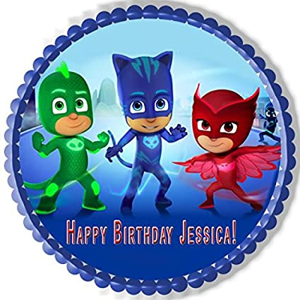 "PJ MASKS (Nr1) - Edible Cake Topper - 6"" ..."