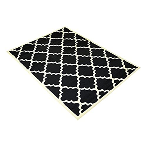 Black And White Floor Rug: Black And White Area Rugs: Amazon.com