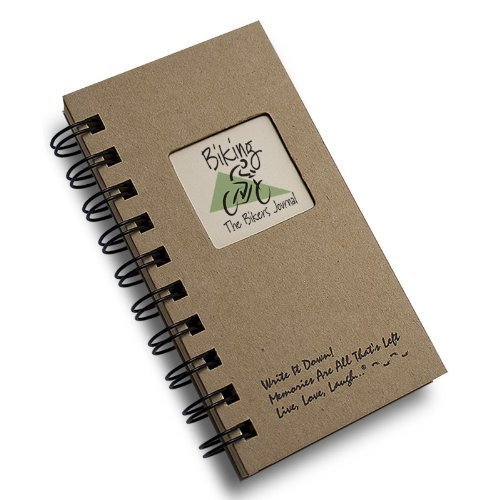 Bicycle Journal (Biking, The Bikers Journal - MINI Kraft Hard Cover (prompts on every page, recycled paper, read more...))