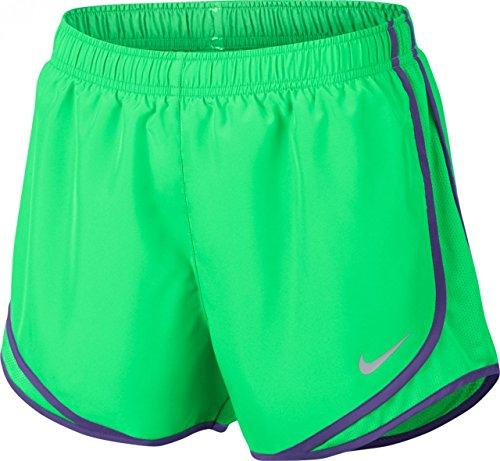 Nike Dry Tempo Women's Running Shorts (X-Large) Green/Purple (Nike Dark Green Shorts Women)