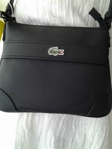 b942d1e3f3 Lacoste Tracolla Piccola Uomo Crossover Bag. (Nero): Amazon.it ...