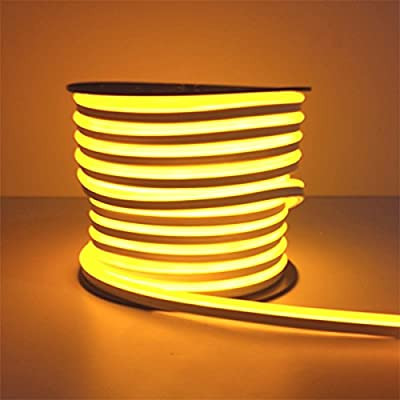 Yellow Flexible LED Neon Rope Light Commercial Lighting Strip Tube Indoor Outdoor Holiday Party Room Decor Lighting 110V Accessories