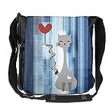 Love Cat Messenger Bag Wear-resistance Shoulder Bag For Work College 26 X 30 X 16 Cm