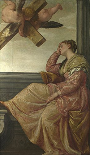 The high quality polyster Canvas of oil painting 'Paolo Veronese The Dream of Saint Helena ' ,size: 30 x 52 inch / 76 x 131 cm ,this Vivid Art Decorative Prints on Canvas is fit for Living Room artwork and Home decoration and Gifts
