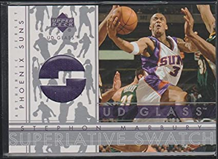1fdf52ba601d 2003 Upper Deck Stephon Marbury Suns Game Used Jersey Basketball Card  SM-S