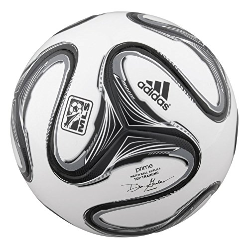 adidas Performance 2014 MLS Top Training NFHS Ball, White/Black/Night Shade, 4