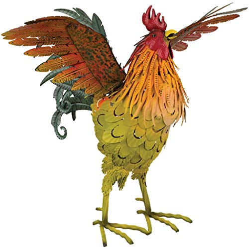 Regal Art & Gift 12380 Napa Rooster Decor 21-Wing Up Statuary, Multi-Colored