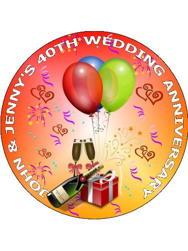 Th Ruby Wedding Anniversary Edible Image Cake Toppers   Th Ruby Wedding Anniversary Edible Image Cake Toppers Personalized On  Rice Paper  Use Contact Seller Link To Send Your Personalized Message Sample Essay Thesis also Example Proposal Essay  What Is The Thesis Of A Research Essay