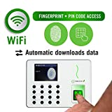 Timedox Silver Snow WiFi Biometric Fingerprint Time Clock Bundle, Including Software, 0 NO Monthly Fees, 180 Days Live Support, Free Unlimited Backup and Storage, 2-Yr Warranty