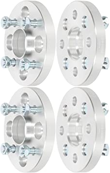 ECCPP 4 lug Wheel Spacers hubcentric 20mm 4x100mm to 4x100mm 56.1mm fits for Honda CRX Honda Civic del Honda Fit with 12x1.5 Studs