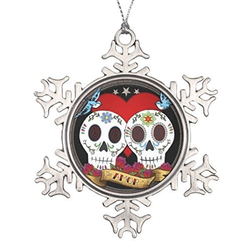 Onlyou Love Skulls Ornament (Snowflake Or (China Snowflake Ornament)