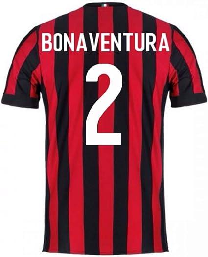 2017-2018 AC Milan Home Football Soccer T-Shirt Jersey (Giacomo ...
