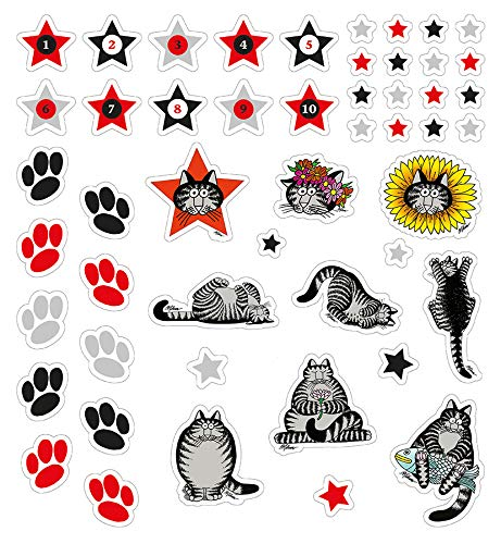 B Kliban Cat Theme Up to 5.5 Feet Wall Stickers for Kids Rooms Child Growth Chart Boys /& Girls Height Chart