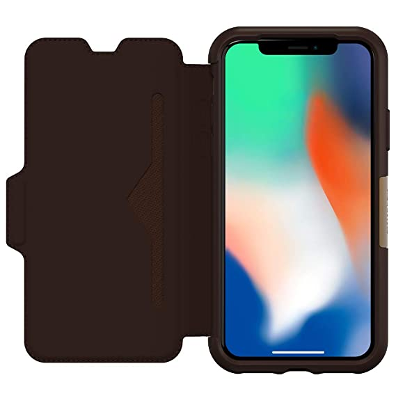 100% authentic 5ff4f 38913 OtterBox Strada Folio Series Case for iPhone X (ONLY) - Espresso (Certified  Refurbished)