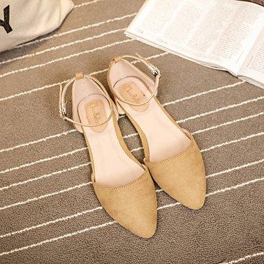 LvYuan-ggx Femme Chaussures à Talons Confort Polyuréthane Printemps Décontracté Confort Noir Gris clair Kaki Plat black I0at1SNuv