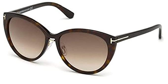 fd06f2d3eeb9 Image Unavailable. Image not available for. Color  Sunglasses Tom Ford TF  345 FT0345 52F dark havana   gradient brown
