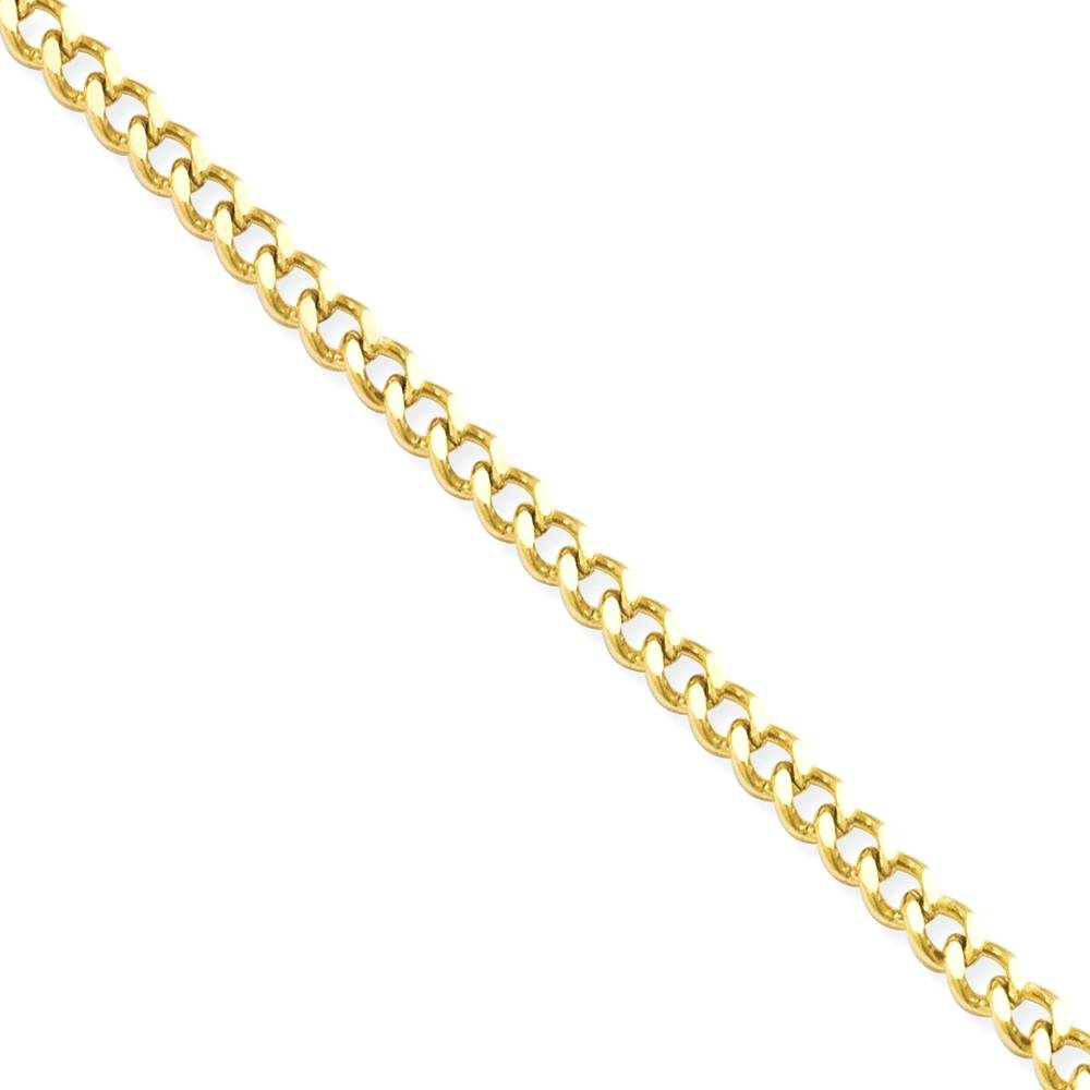 ICE CARATS Stainless Steel Gold Plated 3mm 22 Inch Link Curb Chain Necklace Pendant Charm Fashion Jewelry for Women Gift Set