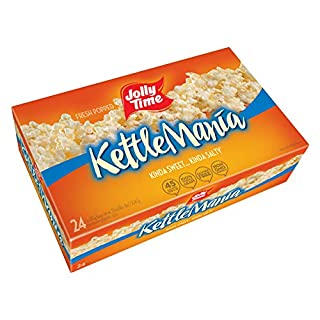 JOLLY TIME KettleMania | Sweet and Salty Gourmet Kettle Microwave Popcorn (Bulk 24 Pack Box)