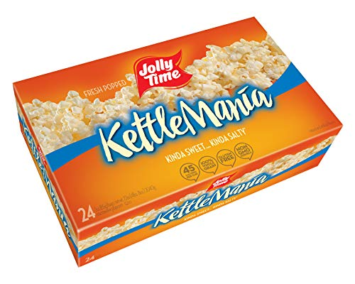 Jolly Time KettleMania Microwave Popcorn Sweet and Salty Gourmet Kettle Corn, 24 Count (Best Corn For Popcorn)