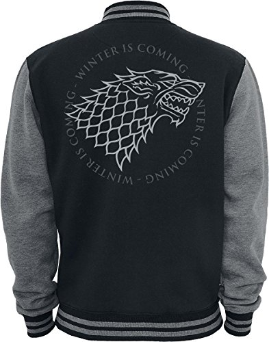 Foncé Stark Thrones gris Noir Of Veste Game Logo Teddy qpRRwz