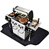 Gas Grill Mat (36'' x 48''), Grilling Gear for Gas/Electric Grill – Absorbent Waterproof Grill Pad Lightweight Washable Floor Mat to Protect Decks and Patios From Grease Splatter and Other Messes