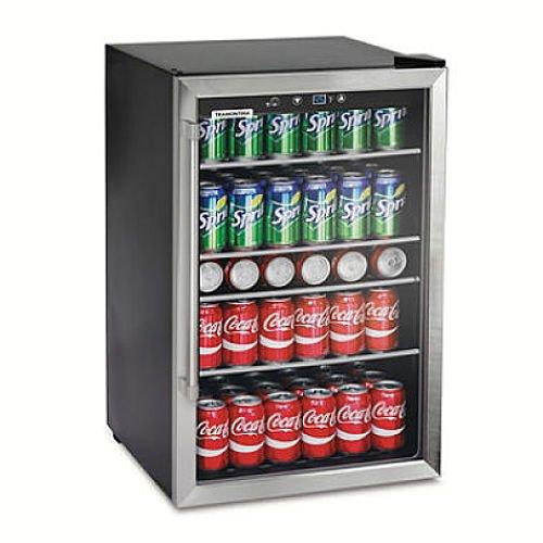 Mini Fridge Glass Door Beverage Cooler Wine Refrigerator Com