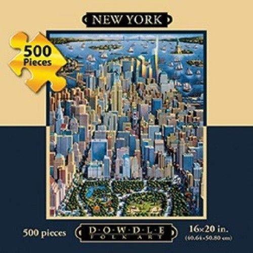 Dowdle Folk Art New York 500 Piece Puzzle 16X20