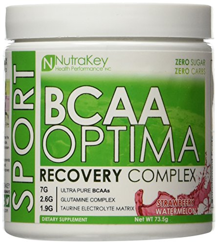 Nutrakey BCAA Optima Post Workout Product, Strawberry Watermelon, 2.6 Ounce
