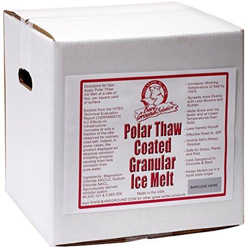 Bare Ground BGCSBX-40P Premium Coated Granular Ice Melt, 40 lbs (Pallet of 48) ()