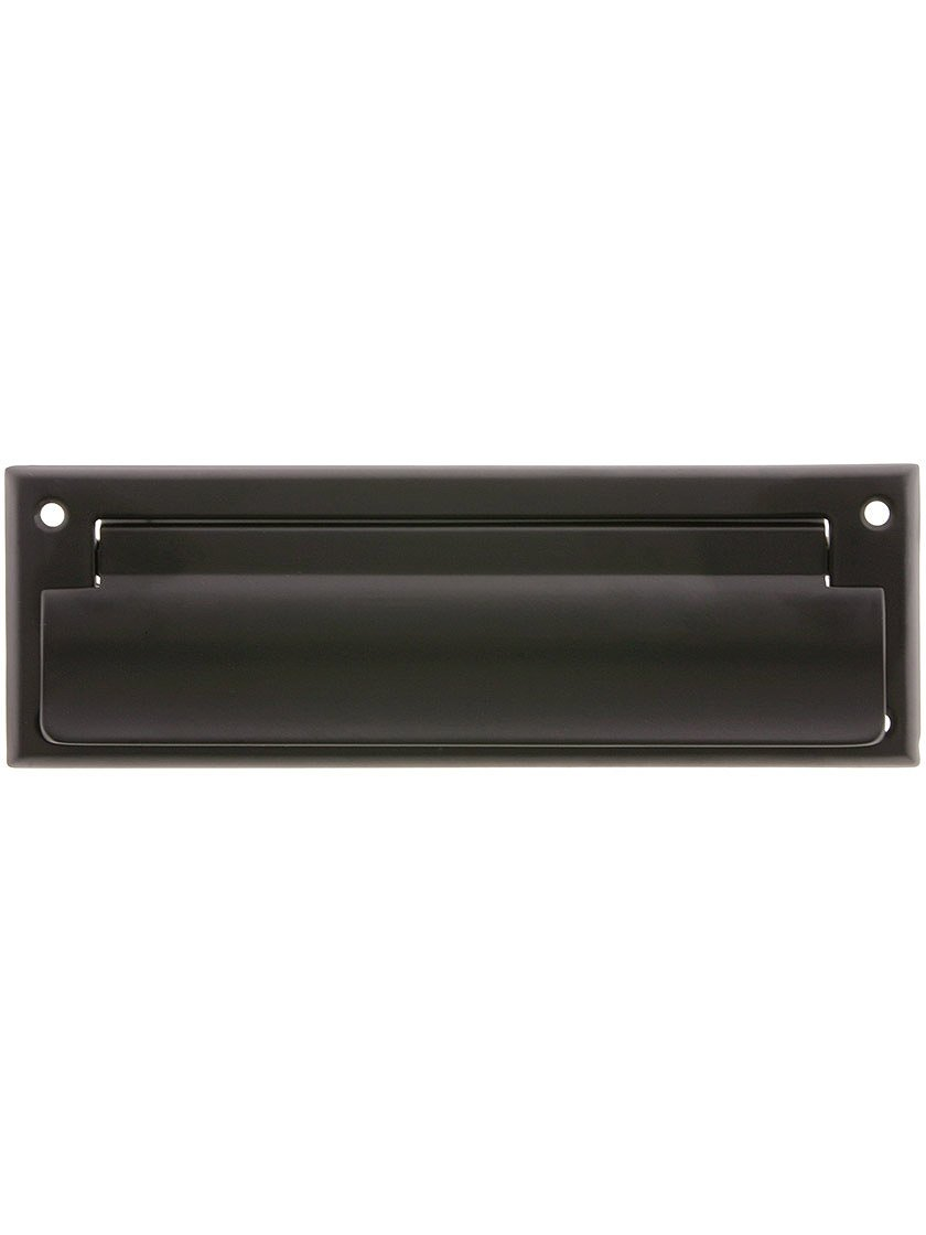 Solid Brass Letter Size Mail Slot Front in Oil Rubbed Bronze.