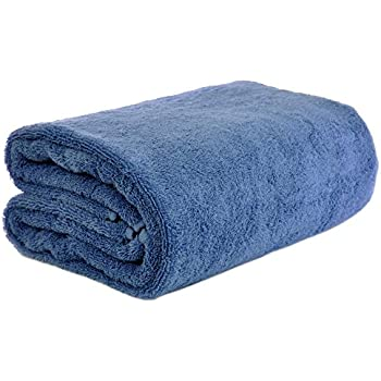Chakir Turkish Linen Turkish Cotton - Oversized (40-Inch-by-80-Inch) Bath Towel, Wedgewood