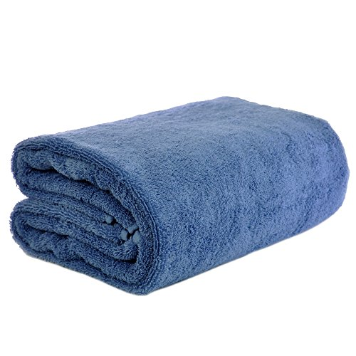 Chakir Turkish Linen Turkish Cotton – Oversized (40-Inch-by-80-Inch) Bath Towel, Wedgewood