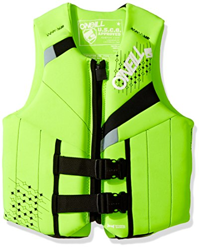 Junior Girls Ski Jacket - O'Neill Teen Reactor USCG Life Vest Dayglo/black/flint,75-125 lbs