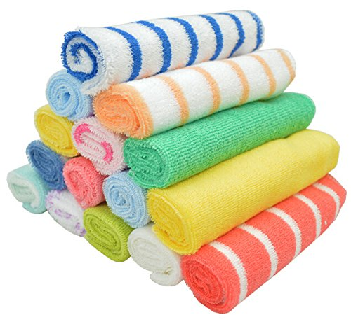 20x20cm 8 Pcs / Set Towel Baby Wash Cloth Infant Towel Baby Feeding Towel Handkerchief- happyshopping222