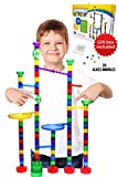 Kyпить Marble Run Track Toy Set – Translucent Marble Maze Race Game Set By Marble Galaxy – Fun Educational STEM Building Construction Toys For Kids - 70 Sturdy Colorful Marbulous Pcs & 20 Glass Marbles на Amazon.com