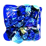 Custom Made Abstract Mosaic Dichroic Glass Knobs - Cabinet or Drawer Pull Handle - 1'' / 30mm - Cobalt Blue Turquoise Aqua Teal Green Gold Pink Fused Glass